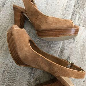 UGG Suede Wooden High Heels